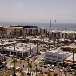 Drone shot of Oceanside